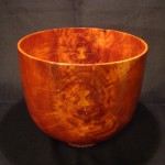 "Lychee Calabash with Koa inlayDimensions: W 12"" X H 9 3/4""Price: $2,500Sold"